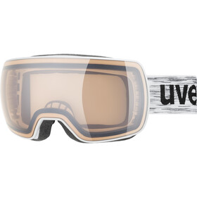 UVEX Compact V Goggles, white/variomatic silver